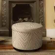 Animal Print Room Decor by Furniture Faux Round Zebra Ottoman For Modern Living Room Ideas