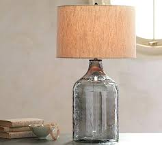 Fillable Table Lamp Clear Glass by Table Lamp Fillable Table Lamp Clear Glass Natural Shade Base