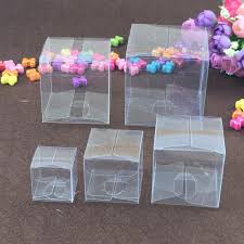 Square Plastic Clear PVC Boxes Transparent Waterproof Gift Box PVC