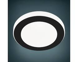 led badezimmer deckenleuchte ip44 11w 950 lm 3000 k warmweiß hxø 75x300 mm carpi schwarz weiß
