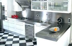 cuisine alu plaque credence cuisine mosaique carrelage inox credence faience