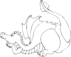 Dragon Coloring Picture Pages Dinosaur Pictures Free Kids Book