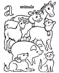 Learn Alphabet With Animals Coloring Pages For Kindergarten Kids