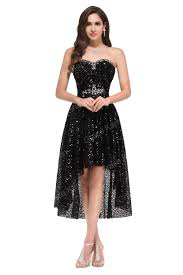 grace karin new model strapless high low black sequins free black