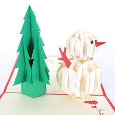 3D Christmas Tree Snowman Handmade Creative Kirigami Origami Pop UP Card Free Shipping On Aliexpress