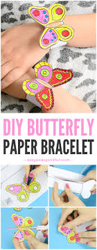 DIY Butterfly Paper Bracelets For Kids Papercrafts Butterflycrafts Springcrafts