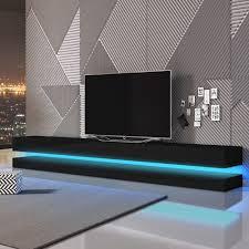 tv hifi tische tv bank hängeboard aviator mit led