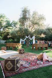 Outdoor Boho-inspired Reception | A Boho Backyard Wedding In Las ... Wedding Ideas On A Budget For The Reception Brunch 236 Best Outdoor Wedding Ideas Images On Pinterest Best 25 Laid Back Classy Backyard Pretty Setup For A Small Dreams Backyard Weddings With Italian String Lights Hung Overhead And Pinterest Dawnwatsonme Small 20 Genius Decorations 432 Deco Beach How We Planned 10k In Sevteen Days