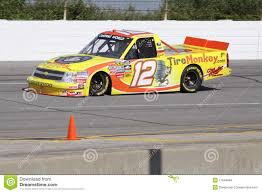 100 Nascar Truck Race Results Mario Gosselin 12 Qualifying NASCAR Series Editorial Stock