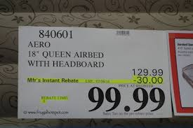 Aerobed Queen With Headboard by Aerobed With Headboard Costco 10372