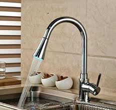 kitchen faucets kitchen faucet with led light swivel spout pull