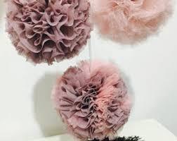 Tulle Pom Pom Decorations by Blush Pink Tulle Pom Pom Wedding Decorations Baby Shower