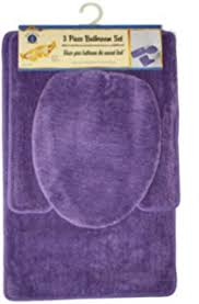Purple Decorative Towel Sets by Amazon Com Purple Flower 18 Piece Bathroom Set 2 Rugs Mats 1