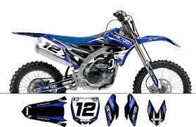 kit déco yamaha yzf250 450 2014 factory team dash gxs racing