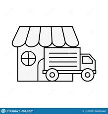 100 Truck Store Online Shopping Logistic Market Stock Vector