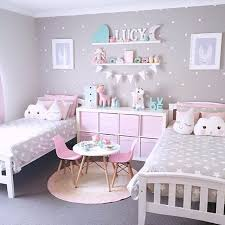 Cute Bedrooms Twin Little Girl Also Pink Colours And Bedroom Ideas With Wall