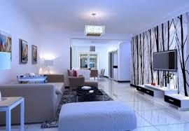 beautiful light blue living room 3d house