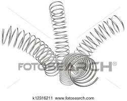 Clipart Of Metal Springs On A White Background K12316211