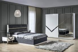 lake schlafzimmer venus set in grau weiß 4 teilig