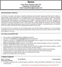Resume Sample For Social Worker Work Example Entry