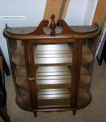 Curved Glass Curio Cabinet by Antique Curved Glass Curio Cabinet Images