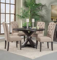 Fabulous Alpine Newberry 54 Round Dining Table Set In ... The Gray Barn Spring Mount 5piece Round Ding Table Set With Cross Back Chairs Likable Cute Kitchen And Sets Fniture Wish Benchwright Rustic X Base 48 New Small Designknow Excellent Beautiful Room Ideas Rugs Jute For Dinette Tables Square Leahlyn 5piece Cherry Finish By Oak Home And Garden Glamorous Drop Leaf Extraordinary