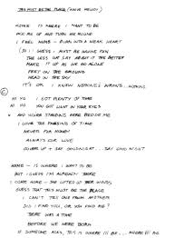 Today Smashing Pumpkins Tablature by Handwritten Lyrics To