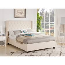 Skyline Tufted Wingback Headboard King by Home Decor Perfect Wingback Queen Bed Combine With Cassandra