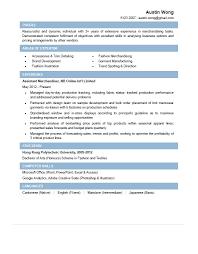 Assistant Merchandiser CV