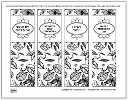Mother S Day Bookmarks Coloring Sheet Free Printable