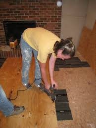 Wood Floor Leveling Filler by How To Level A Plywood Or Osb Subfloor Using Asphalt Shingles