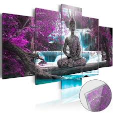 5Pcs Modern Buddha Zen Landscape Painting Canvas Picture Wall Art