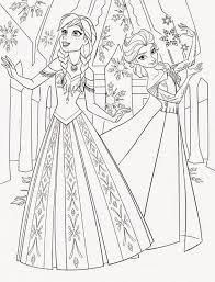 Disney Princess Frozen Elsa And Anna Coloring Pages