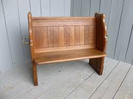 stunning antique vintage oak wooden church pew kitchen bench