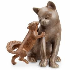 cat garden statue buy squirrel stealing a from a cat garden sculpture by spi home