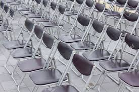 100 Event Folding Chair A Lot Of Which Is Arranged In The Venue Stock