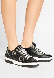 Machtig Schwarz Love Moschino Damen Schuhe LO911A00Y Q11 STUD Sneaker Low Durchgehendes Plateau