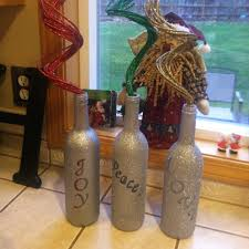 Decorative Wine Bottles Crafts by 108 Best Wine Bottle Crafts Images On Pinterest Painted Bottles
