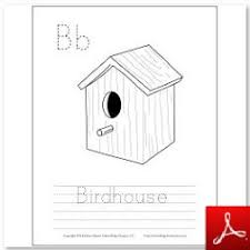 Birdhouse Coloring Tracing Page