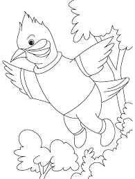 A Singing Nightingale Bird Coloring Page