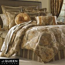 J Queen Celeste Curtains by Bradshaw Damask Comforter Bedding By J Queen New York