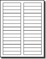 3000 Laser Only Matte Frosty Clear Labels 2 3 X 7 16 30 Per Sheet File Folder Use AveryR 5366 Template