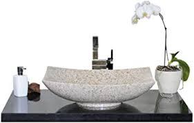 waschbecken aus naturstein granit model lima gelb