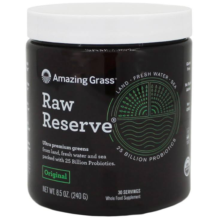Amazing Grass Raw Reserve Green Superfood Powder - 30 Servings