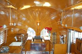 Kitchen Cabinets Sink And Faucet In 1936 Airstream Clipper Trailer