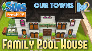 Sims Freeplay Second Floor by Sims Freeplay Family House With Indoor Pool Original Design