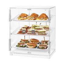 Small Bakery Cabinet With 3 Frosted Trays 2 Doors 1 EA BD129
