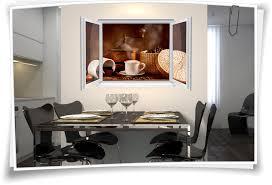 wandtattoo wandbild fenster kaffee mühle tasse bohnen wohnzimmer küche esszimmer deko