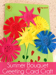 Greeting Card Craft Summer Bouquet Skip To My Lou Ideas
