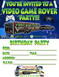 Unique Video Game Truck Party Invitations Illustration - Invitation ...